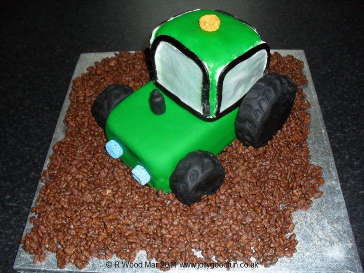 Pin Coolest John Deere Tractor Cake Pic 1 Ideas Birthday