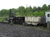 Early Steam Engine towing carriages