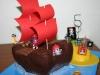 Pirate Ship and Treasure Island Birthday cake