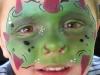 monster face, red horns