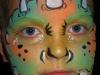 monster face, white horns