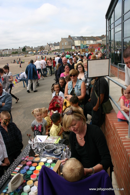Seaside Day, Newbiggin, July 2011