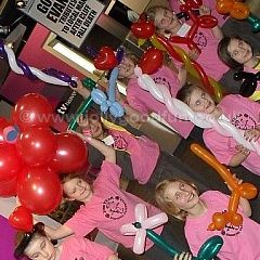 Children at a balloon modeling workshop