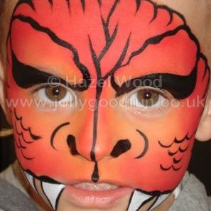 Dragon face paint design