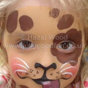 Puppy face paint design