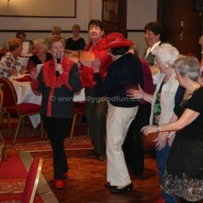 Hazel Wood teaching line dancing in York