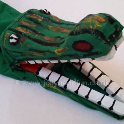 Crocodile puppet