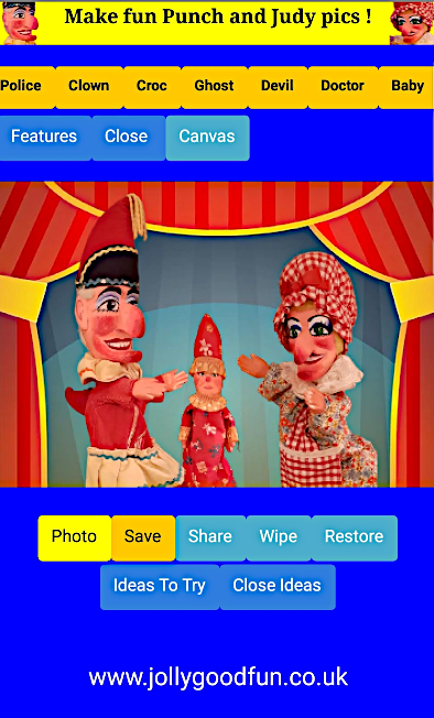 Punch and Judy Pics, Phone App