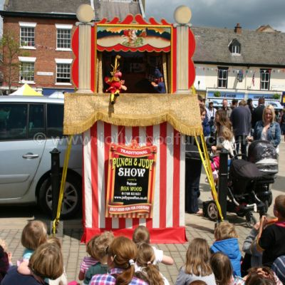 Ron performing Punch and Judy at Ripon