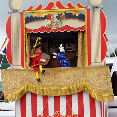 Punch and Judy show in progress
