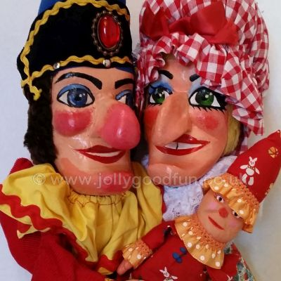 Authentic hand carved wooden puppets